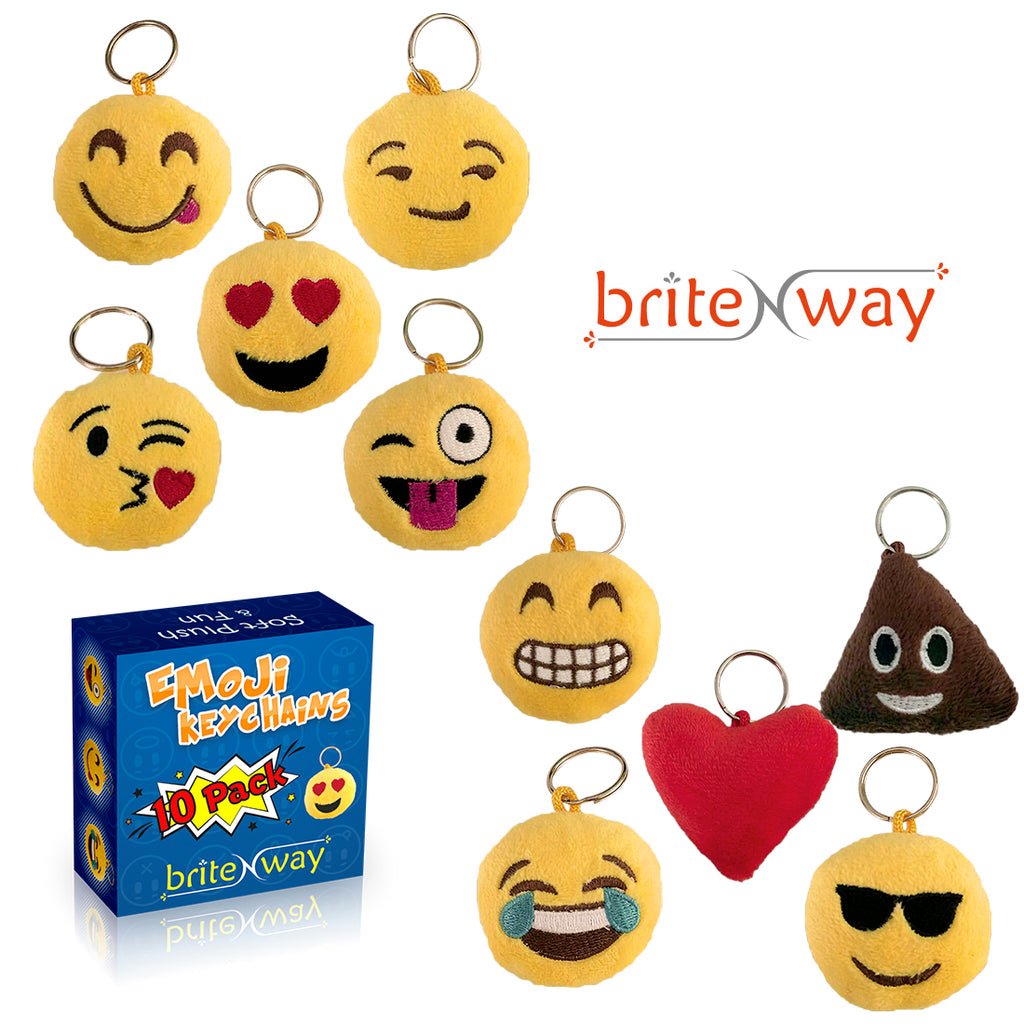 [10-Pack] Ultimate Emoji Keychain Face Set-Daily Steals