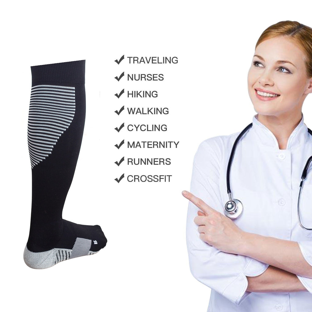 Daily Steals-Unisex Compression Socks for Running Circulation-Fitness and Wellness-