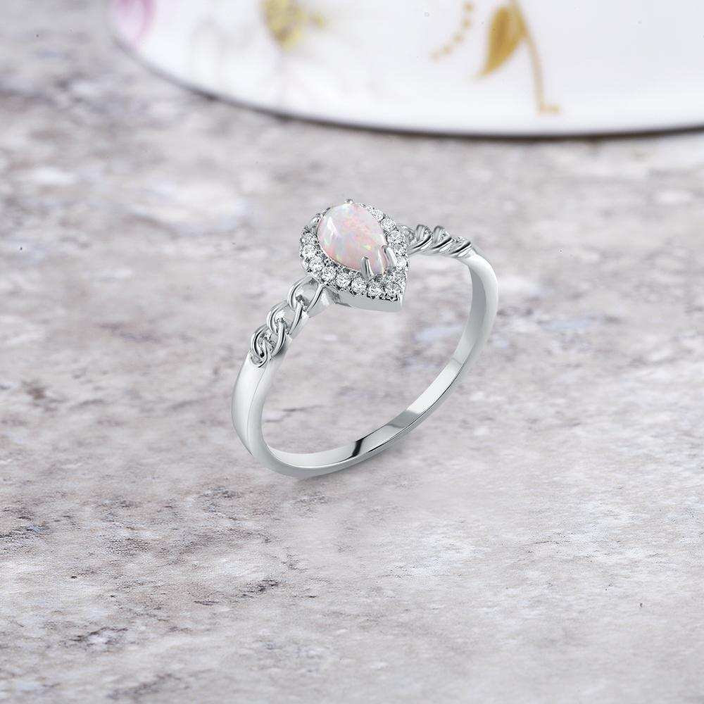Genuine Gemstone Pear Shaped Ring-Daily Steals