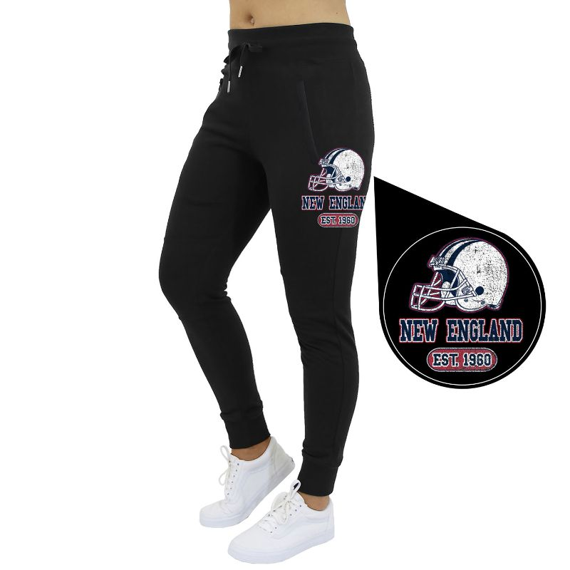 Women's Home Team Football Jogger Sweatpants-New Orleans - Black-S-Daily Steals