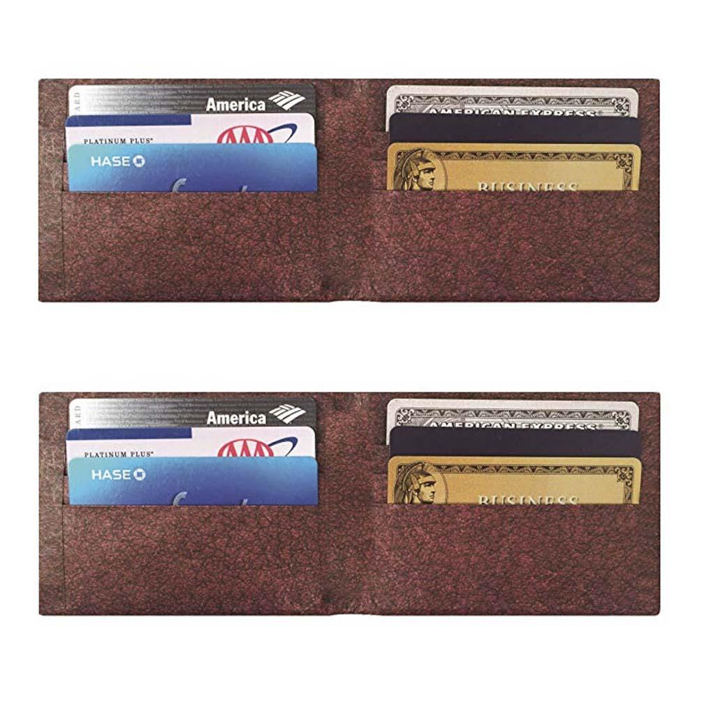 Daily Steals-Men's Slim Wallet with RFID Protection - 2 Pack-Men's Accessories-