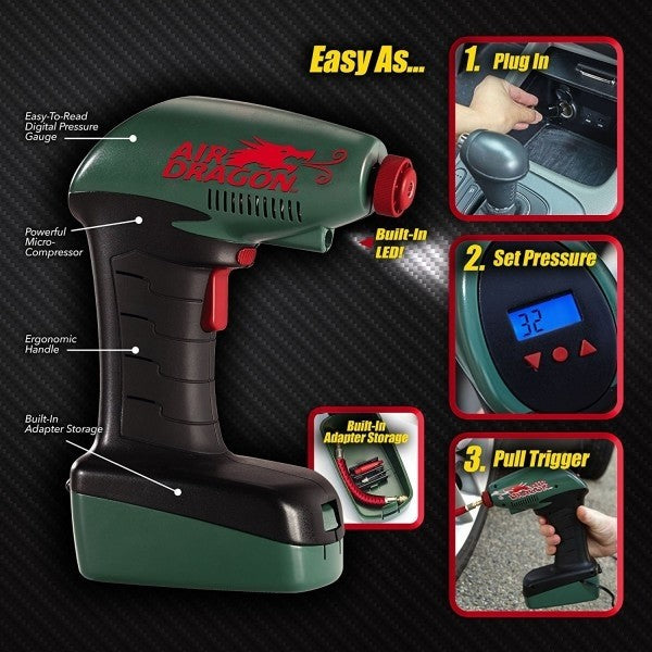 Daily Steals-Air Dragon Portable Air Compressor with Auto-Stop-Home and Office Essentials-
