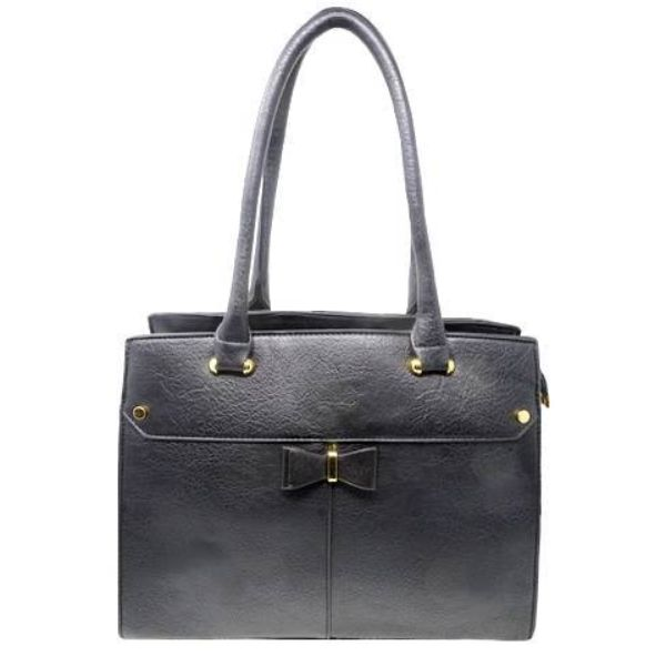 Women Leather Shoulder Vintage Tote Handbag-Black-Daily Steals