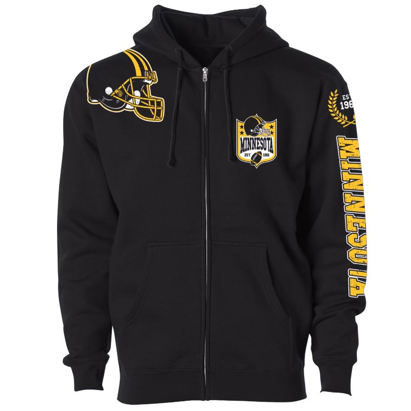 Women's Football Home Team Zip Up Hoodie-M-Minnesota-Daily Steals