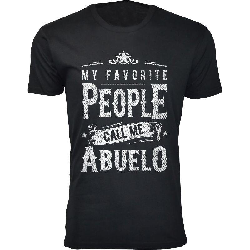 Men's Dad Grandpa My Favorite People Call Me T-Shirts-Abuelo - Black-S-Daily Steals