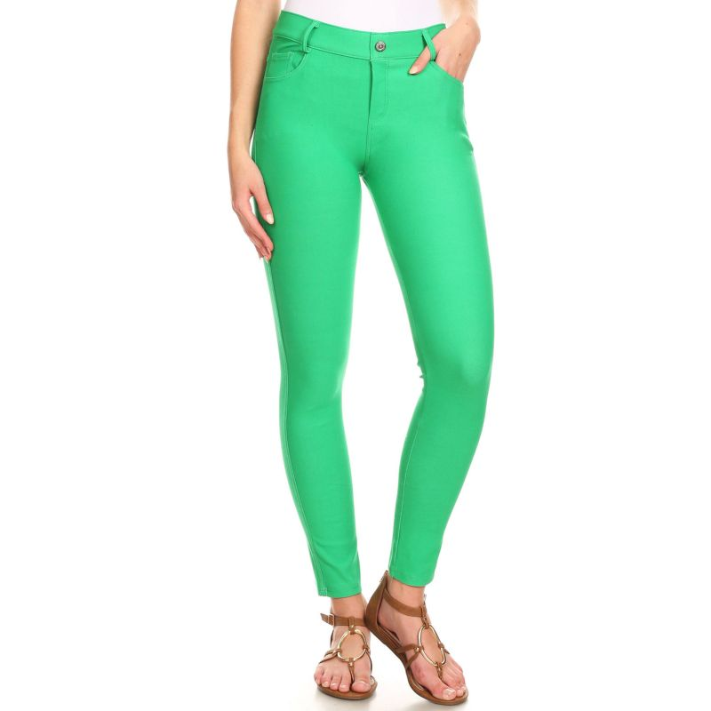 Ensemble de coton Jeggings-Green-Large-Daily-Steals pour femme