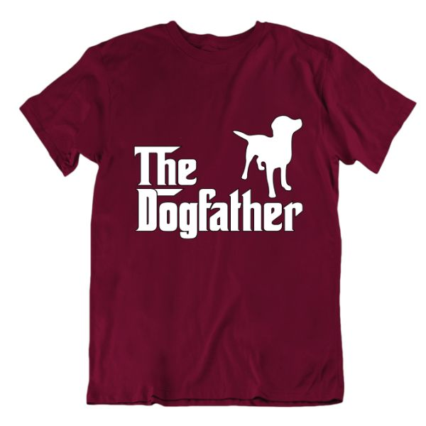 """The Dogfather"" T-Shirt-Maroon-Small-Daily Steals"