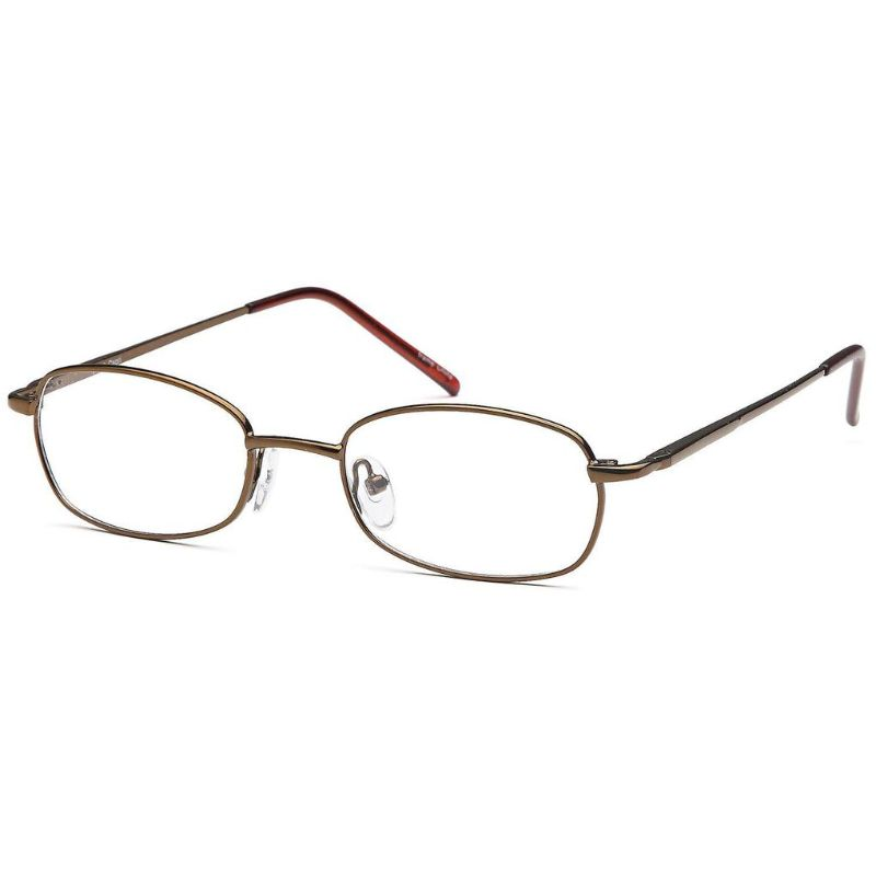 Unisex Eyeglasses 53 18 140 Brown Metal