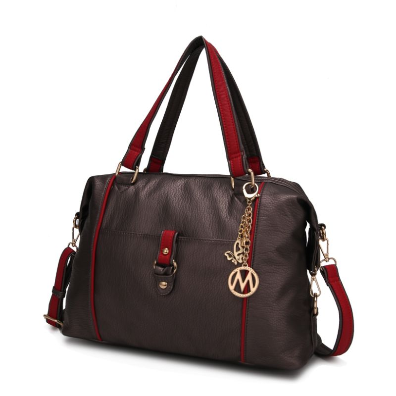 Opal Satchel Handbag by MKF-Pewter-Red-Daily Steals
