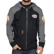 Von Dutch Men's Full-Zip Hooded Fleece SweaT-Shirt-Von Dutch Black/Charcoal-2XL-Daily Steals