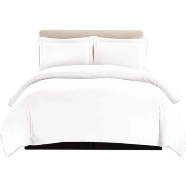 3 Piece Ultra Soft Egyptian Quality Duvet Cover Set-White-Full/Queen-Daily Steals