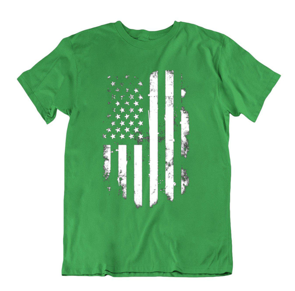 Vintage Distressed USA Flag T Shirt-Kelly Green-Small-Daily Steals