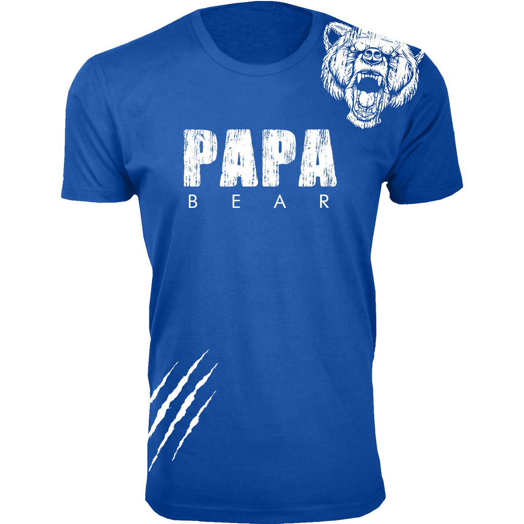 Daily Steals-Men's Best Father's Day Ever T-shirts-Men's Apparel-Papa Bear Scratch - Royal Blue-S-