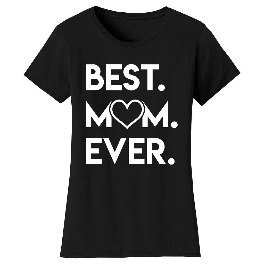 T-shirts pour femmes Best Mom Ever Heart-Noir-Small-Daily Steals