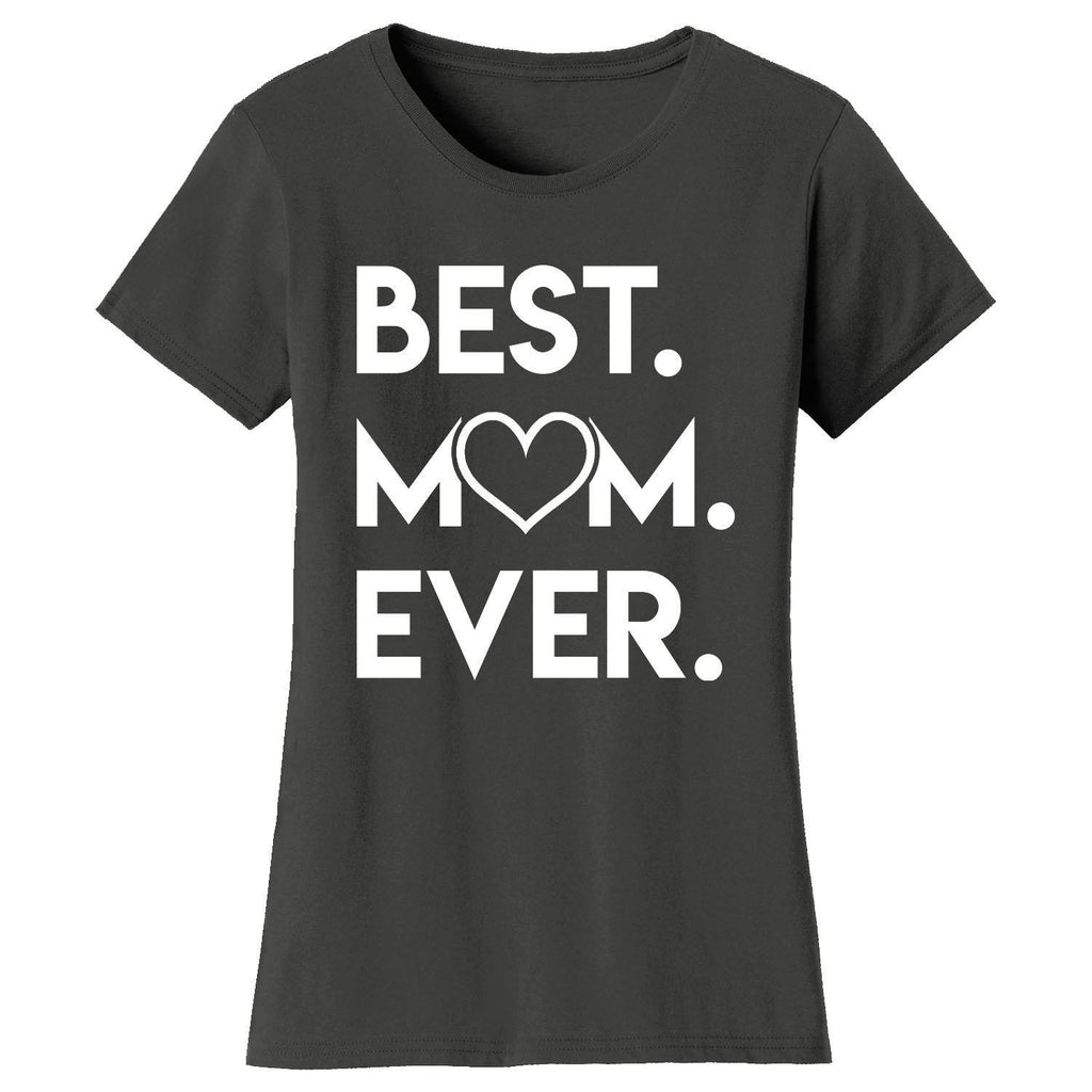Daily Steals-Women's Best Mom Ever Heart T-shirts-Women's Apparel-Charcoal-Small-