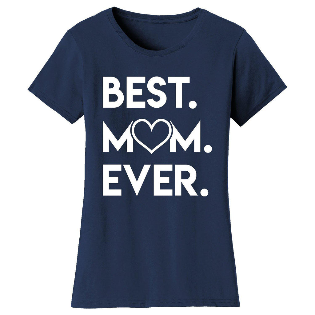 Daily Steals-Women's Best Mom Ever Heart T-shirts-Women's Apparel-Navy-Small-
