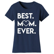 T-shirts pour femmes Best Mom Ever Heart-Navy-Small-Daily Steals