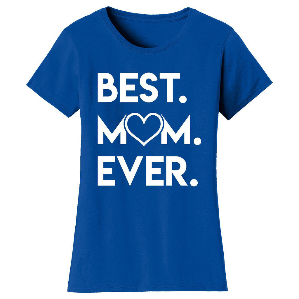 Daily Steals-Women's Best Mom Ever Heart T-shirts-Women's Apparel-Royal Blue-Small-
