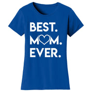 T-shirts pour femmes Best Mom Ever Heart-Bleu royal-Small-Daily Steals