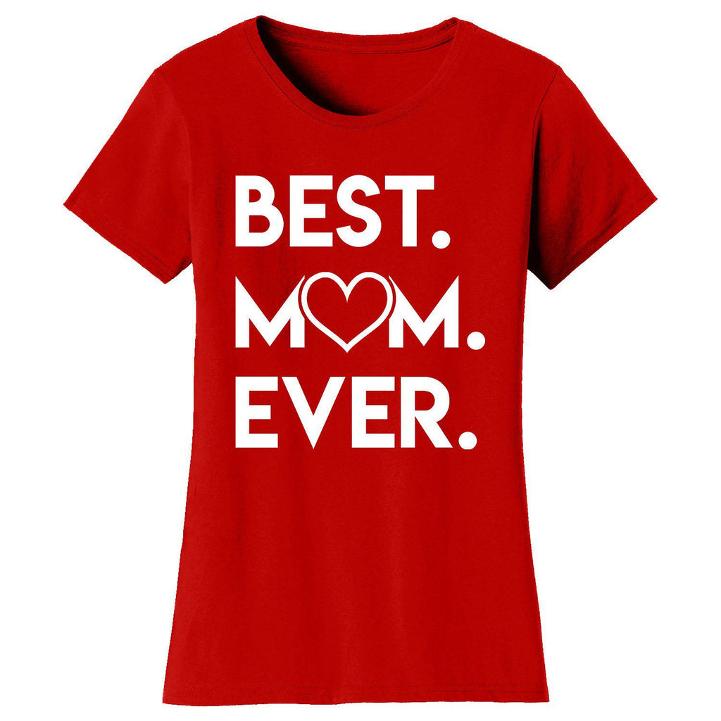 Daily Steals-Women's Best Mom Ever Heart T-shirts-Women's Apparel-Red-Small-