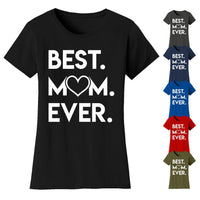 Women's Best Mom Ever Heart T-shirts