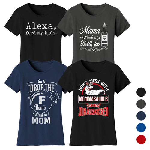 46842a89 update alt-text with template Daily Steals-Women's Funny Mom T-shirts-