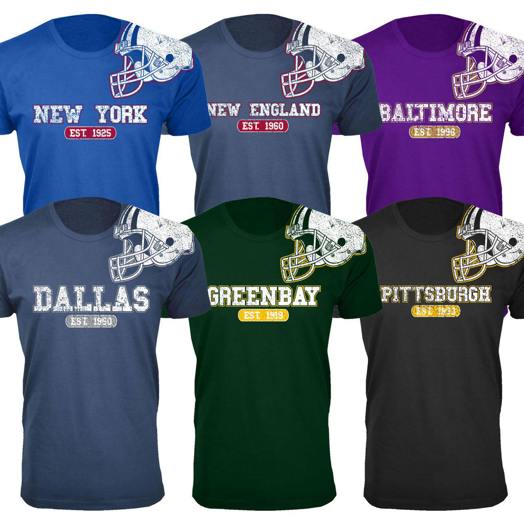 Men's Football Helmet Cotton T-Shirts-Daily Steals