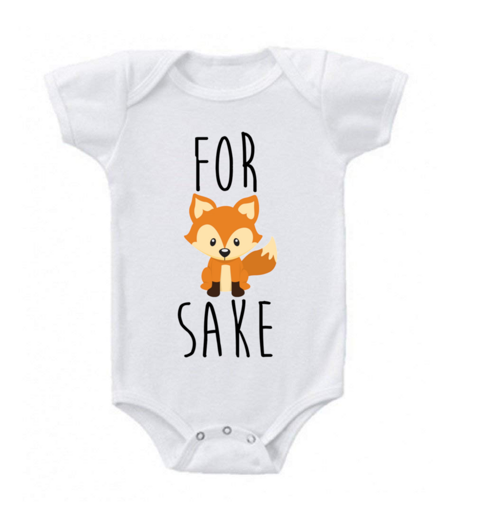 Comfortable Humorous Baby Romper-New Born-For Fox Sake-Daily Steals