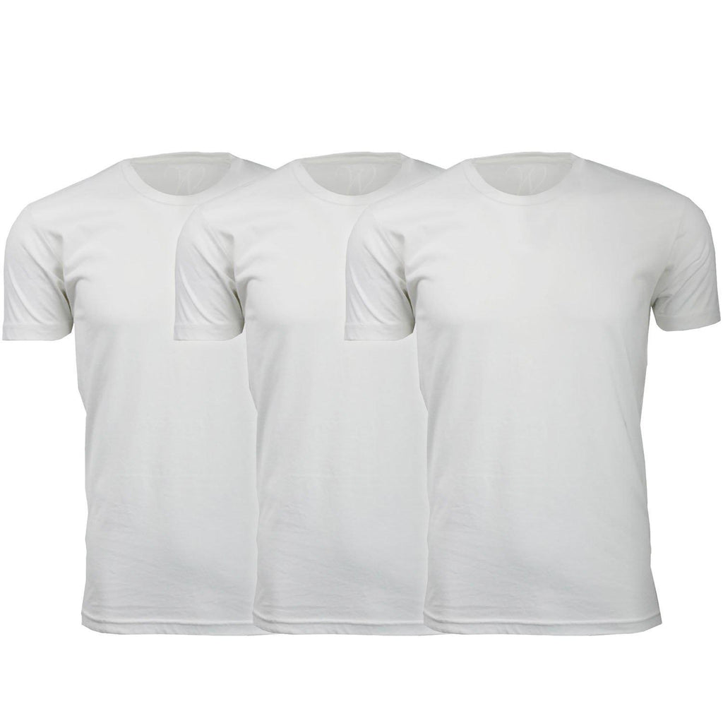 Daily Steals-Men's Ethan Williams 3-Pack Sueded Crew Neck T-shirts-Men's Apparel-White + White + White-S-