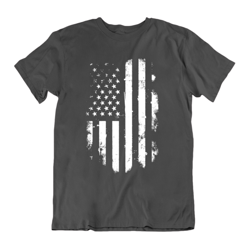 Vintage Distressed USA Flag T Shirt-Charcoal-Small-Daily Steals