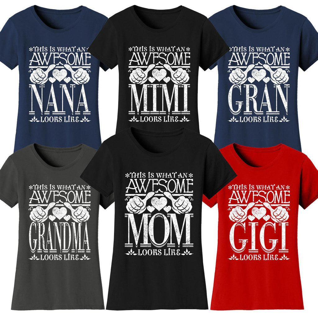 Daily Steals-Women's Awesome Mom Grandma Looks Like T-Shirts-Women's Apparel-Black-MOM-Small