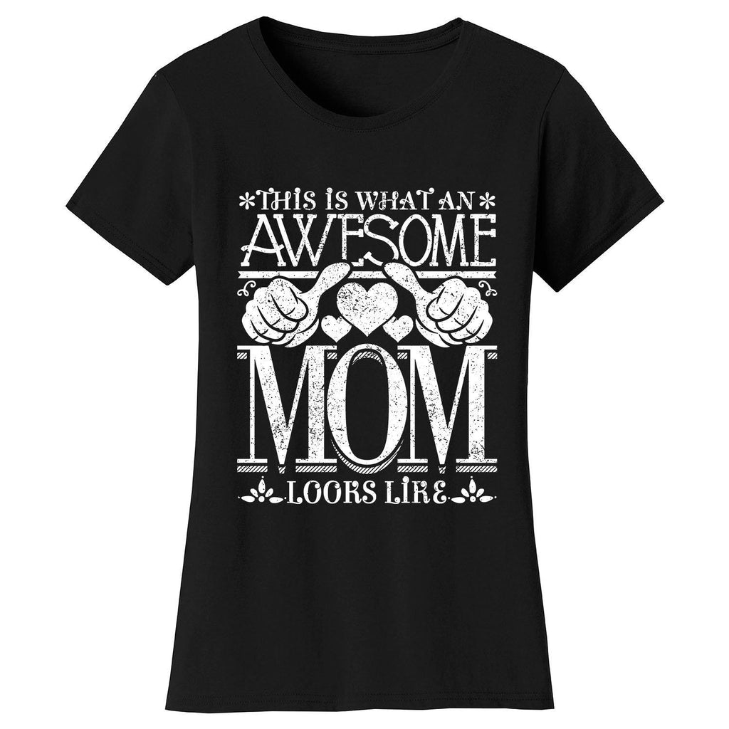 Women's Awesome Mom Grandma Looks Like T-Shirts-Black-MOM-2X-Large-Daily Steals
