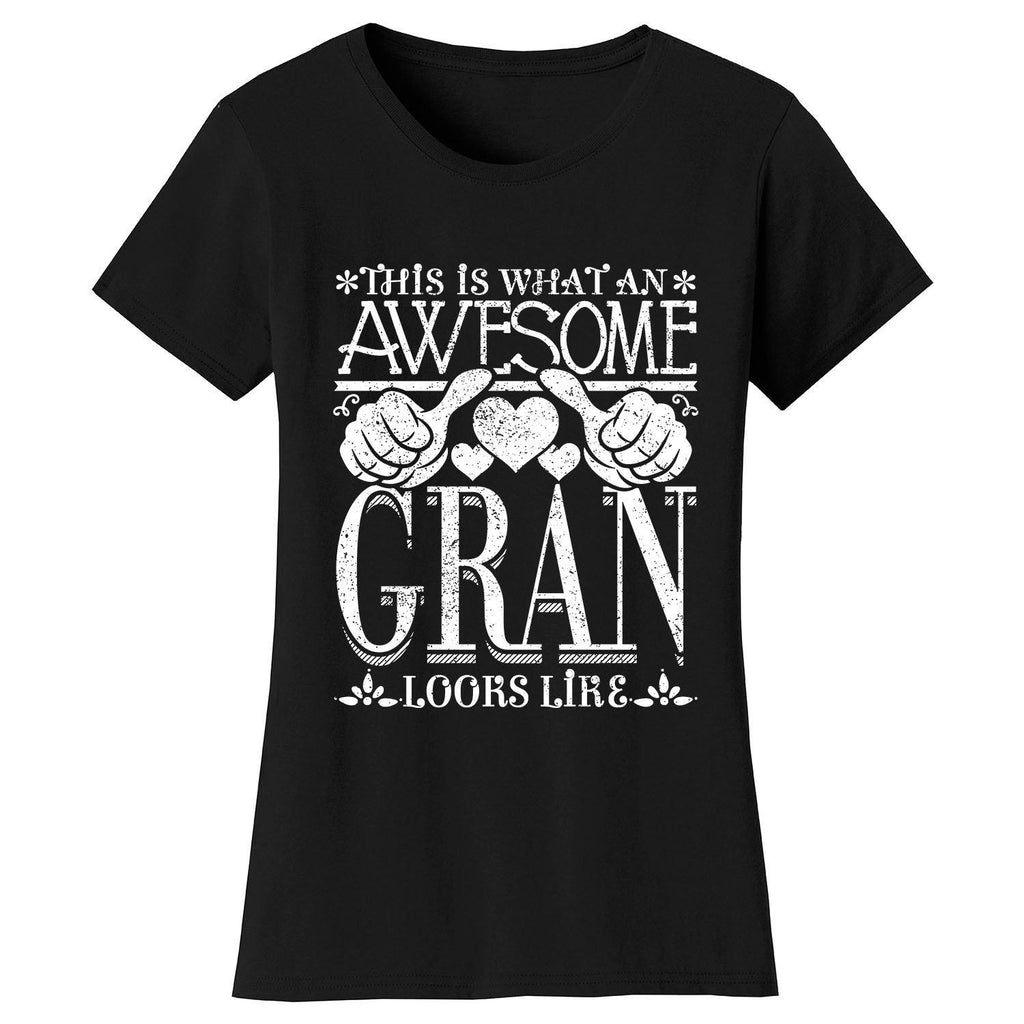 Women's Awesome Mom Grandma Looks Like T-Shirts-Black-GRAN-2X-Large-Daily Steals