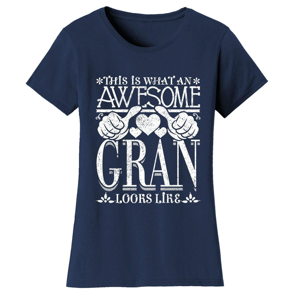 Women's Awesome Mom Grandma Looks Like T-Shirts-Navy Blue-GRAN-2X-Large-Daily Steals