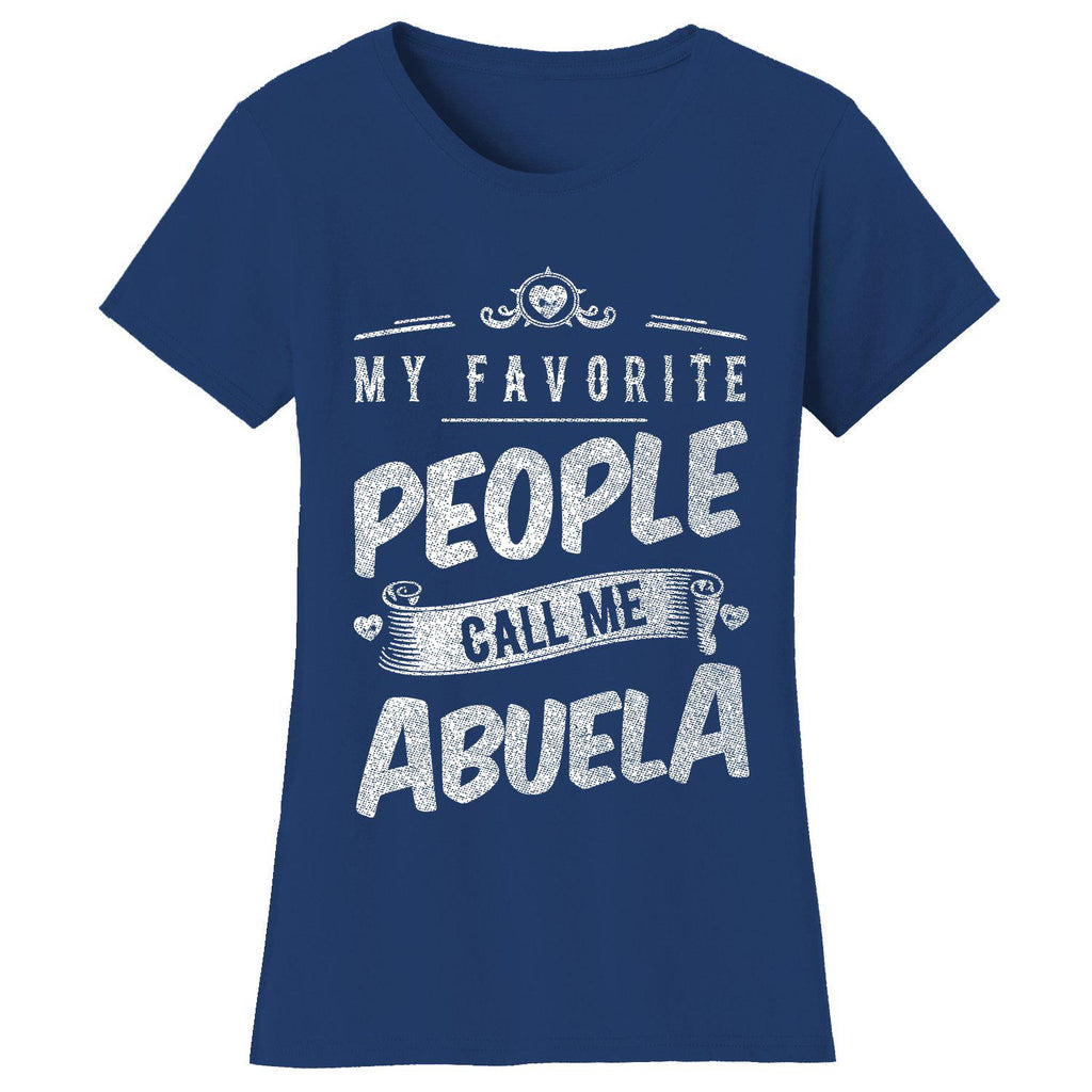 "Women's T-shirts ""My Favorite People Call Me:"" - Variety Available-2X-Large-Abuela - Navy-Daily Steals"