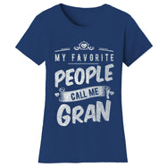 "Women's T-shirts ""My Favorite People Call Me:"" - Variety Available-2X-Large-Gran - Navy-Daily Steals"