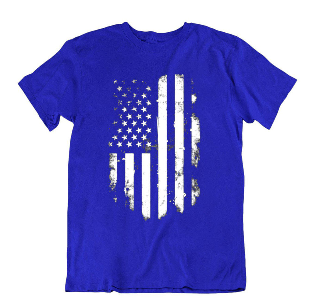 Vintage Distressed USA Flag T Shirt-Royal Blue-Small-Daily Steals