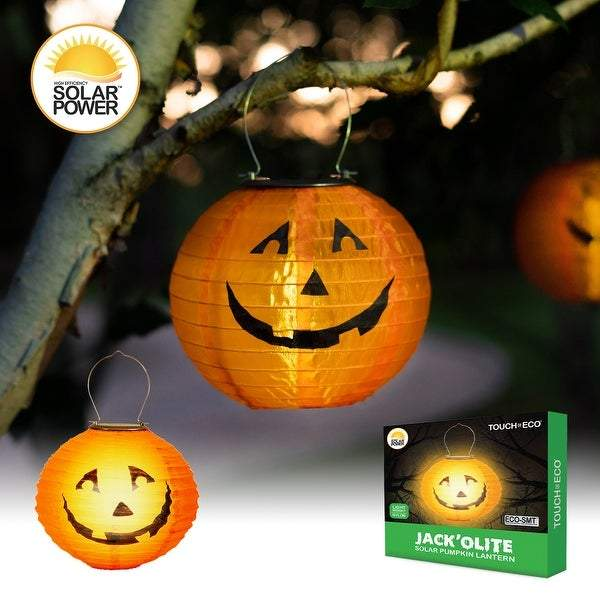 solar pumpkin light