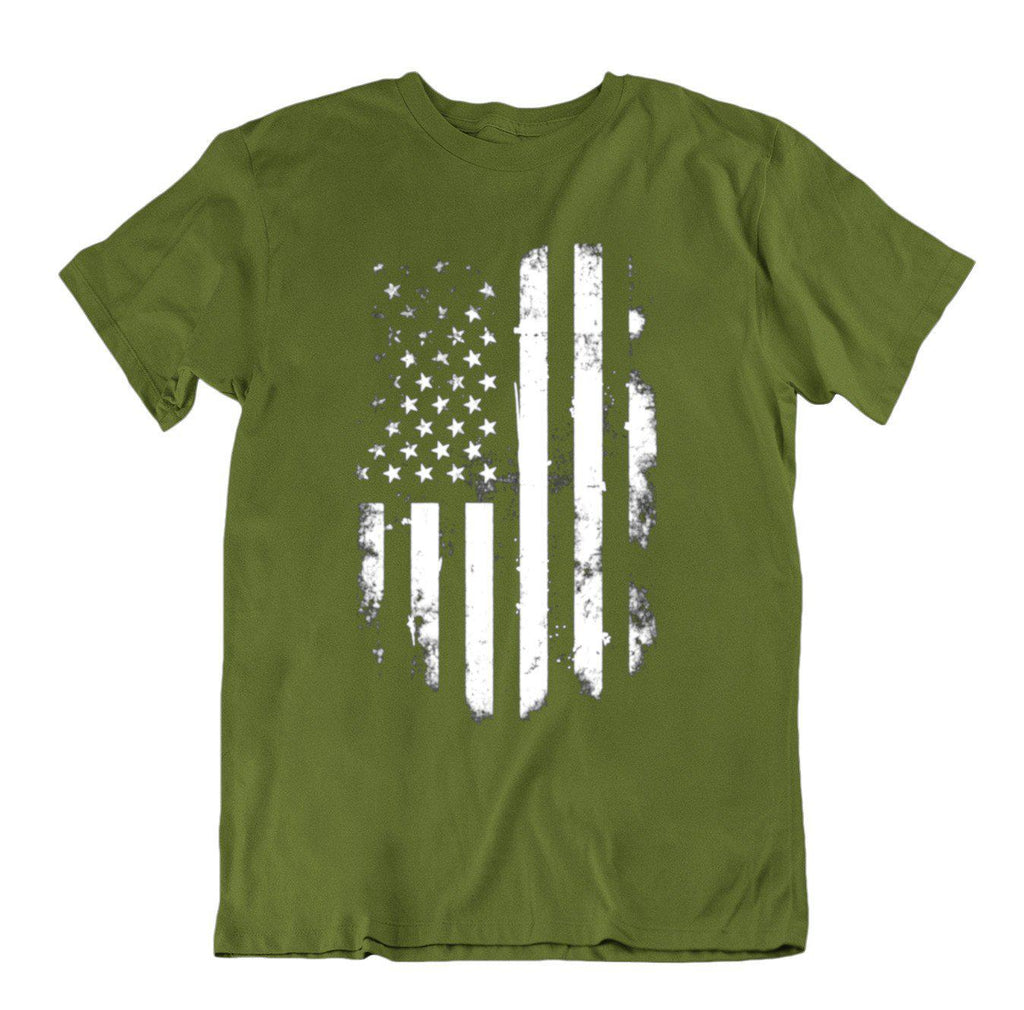 Vintage Distressed USA Flag T Shirt-Military Green-Small-Daily Steals