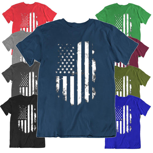 36af5a027e83 Daily Steals-Vintage Distressed USA Flag T Shirt-Men's Apparel-Black-Small