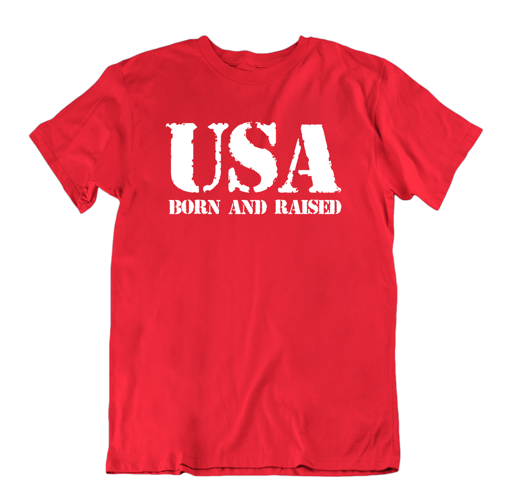 USA Born and Raised T Shirt-Red-Small-Daily Steals