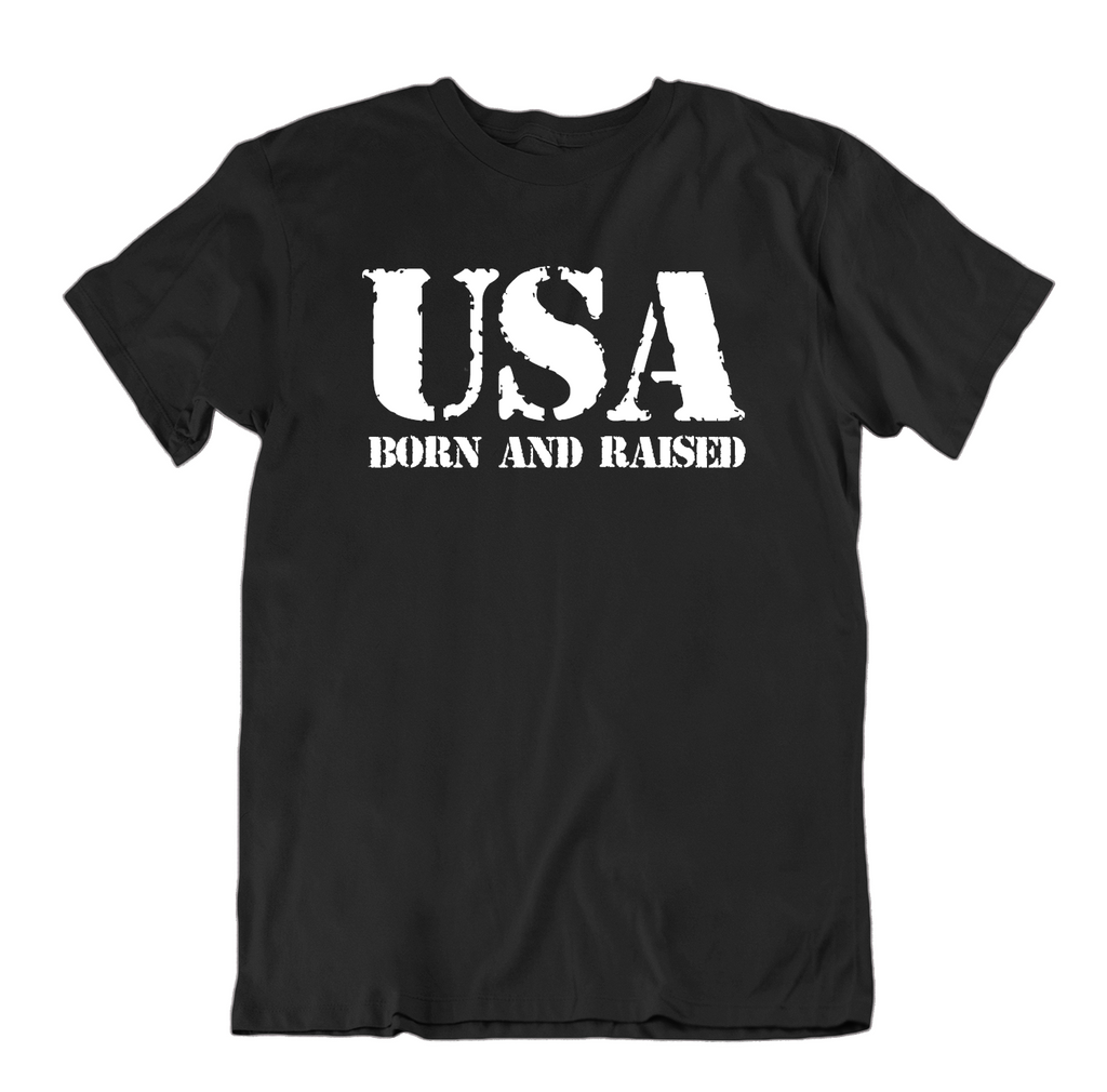 USA Born and Raised T Shirt-Black-Medium-Daily Steals