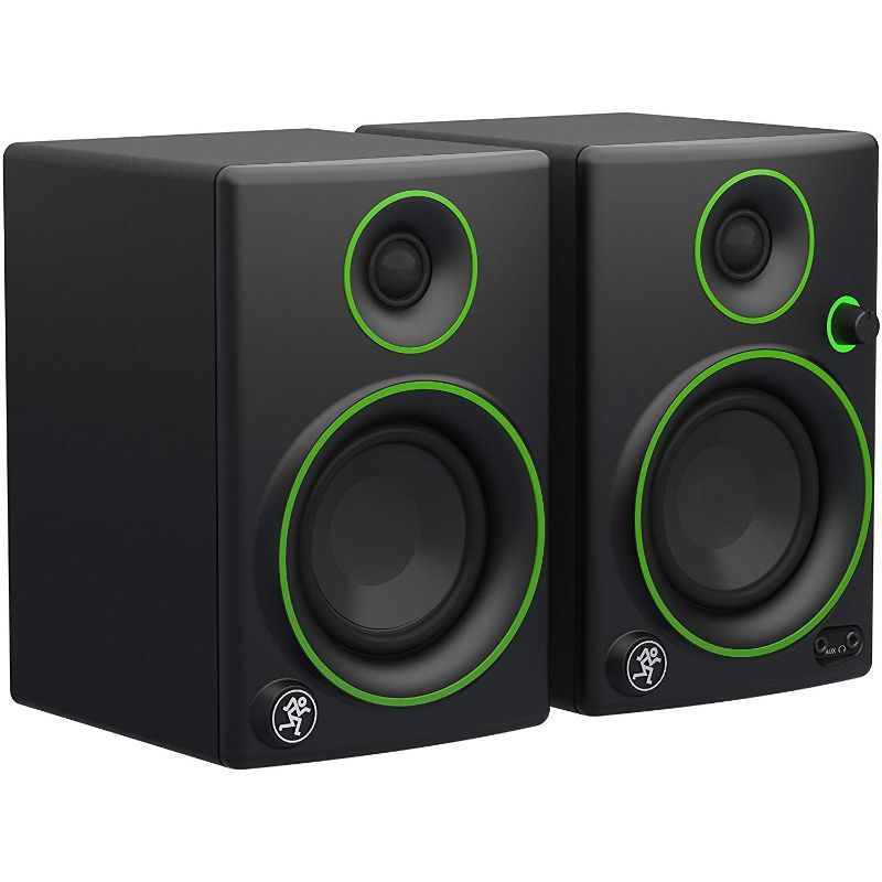 "Mackie CR3 3"" Woofer Creative Reference Multimedia Monitor Speakers (Pair)-Black with Green Trim-Daily Steals"