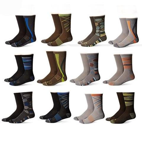 Dickies Action Crew Performance Socks - Paquete de 12 robos diarios