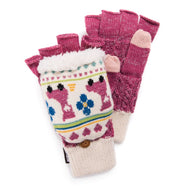 Women's Fingerless Flip Mittens by Muk Luks-Millennial Pink-Daily Steals