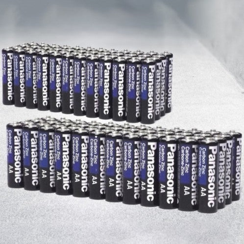 update alt-text with template Daily Steals-Panasonic Alkaline Batteries - Assorted Styles and Sizes-Batteries-96-Pack-AA-