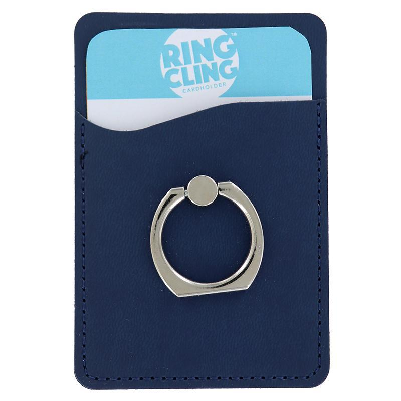 [2-Pack] Ring Cling Cardholder-Blue-Daily Steals