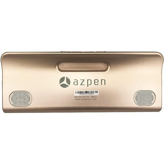 "Azpen 7"" Gold Android Internet Radio Tablet With Bluetooth Speakers-Daily Steals"