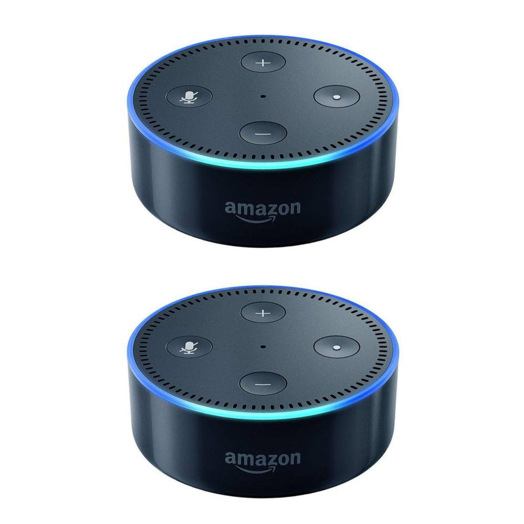 Amazon Echo Dot (2nd Generation) - Smart speaker with Alexa - 2 Pack-Black-Daily Steals