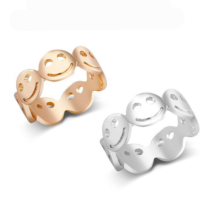 Emoji Rings - 2 Pack-Size 6-Daily Steals